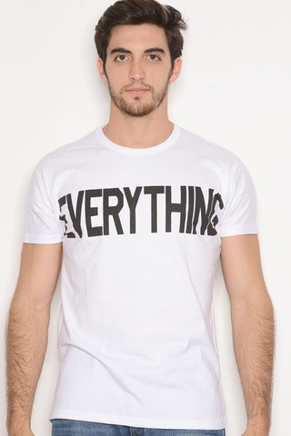Remera Algodon Estampa Everything Blanco
