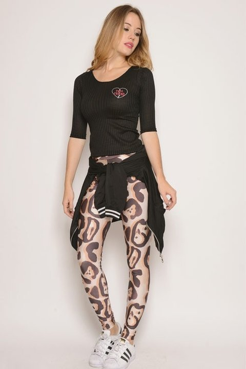 Calza Lycra Estampa Animal Print