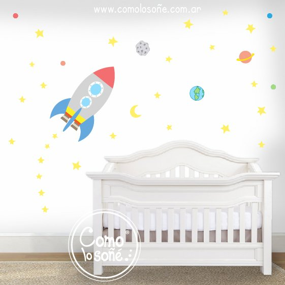 Wall Sticker Cohete