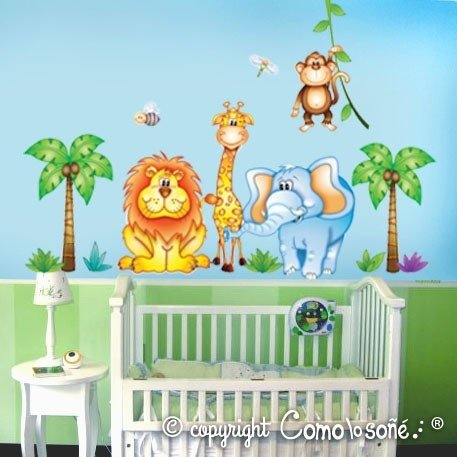 WALL STICKER DISEÑO ANIMALES GRANDE