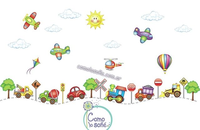 WALL STICKERS DISEÑO TRANSPORTES en internet