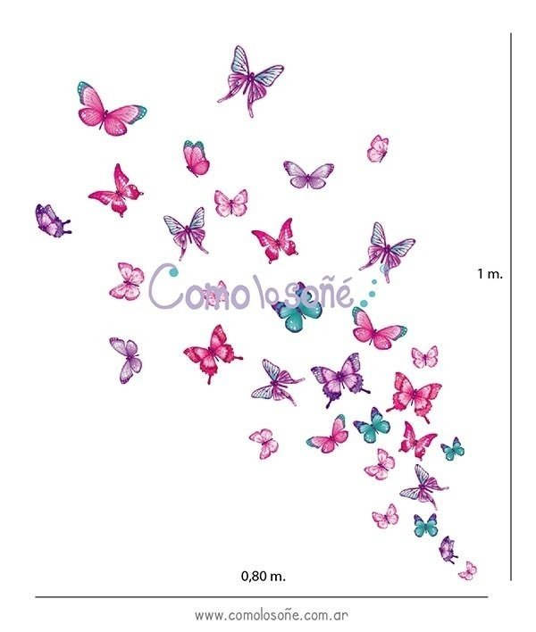 KIT MARIPOSAS STICKER DE VINILO - comprar online