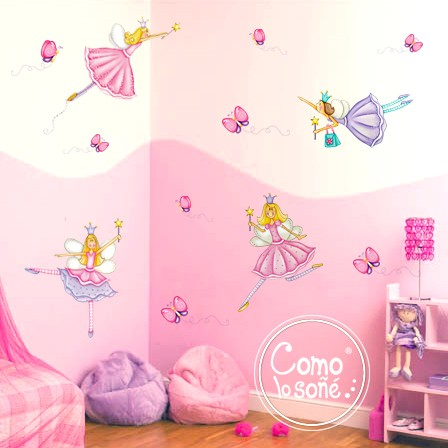 KIT WALL STICKERS HADAS X 4 U. CON MARIPOSAS