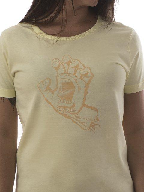 ca98d7f427 CAMISETA DE SKATE FEMININA SANTA CRUZ SCREAMING HAND AMARELA CAMISETA SANTA  CRUZ SCREAMING HAND AMARELA - comprar online ...