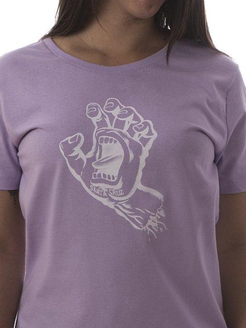 48d4bc387c ... CAMISETA DE SKATE FEMININA SANTA CRUZ SCREAMING HAND LILAS ...