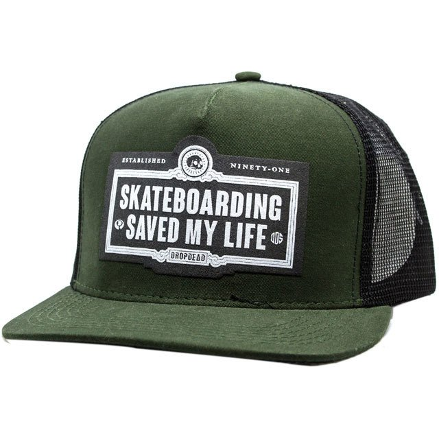 BONÉ DROP DEAD SKATE SAVED MY LIFE TRUCKER bfe38352a66