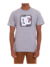 Camiseta DC Shoes Big Square Cinza Mescla
