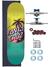 Skate Santa Cruz Completo 7.9 Palm Dot Green