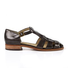 Copper patent leather sandals - buy online