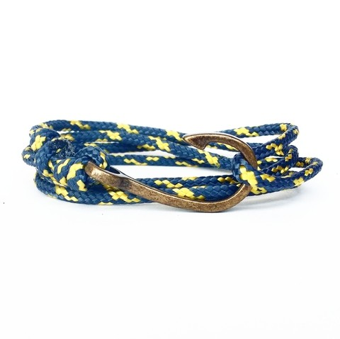 Pulseira Anzol Vibe Vintage Rope Cinza
