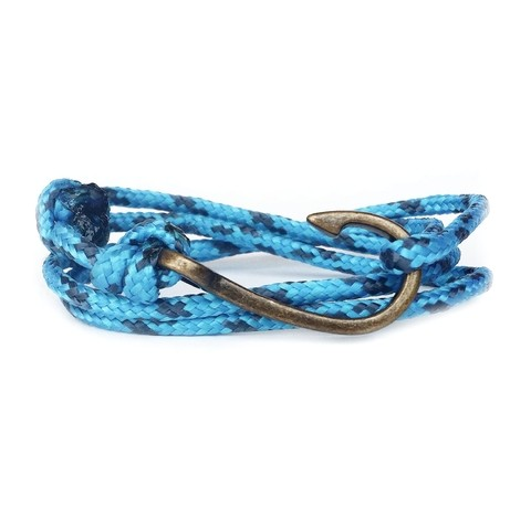 Pulseira Anzol Vibe Vintage Rope Azul