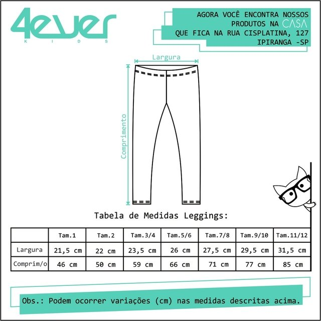 Legging Árvores - 4everkids