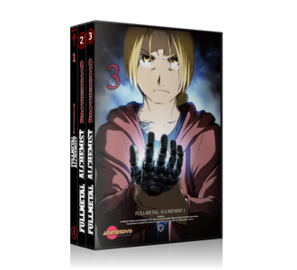 Full Metal Alchemist Brotherhood dvd cover