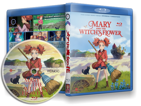 Mary and the Witch's Flower Cover Blu-ray