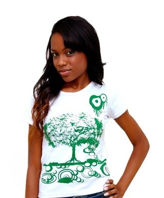 Camiseta Baby Look Green Tree