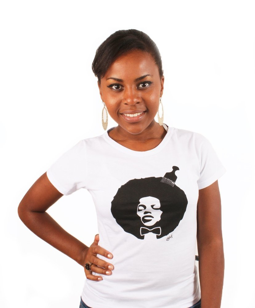 Camiseta Baby Look black power na internet