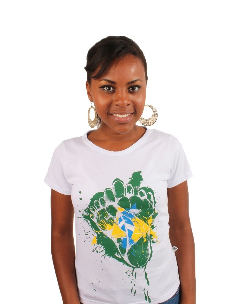 Camiseta Baby Look pés do Brasil - CamisetasGHT
