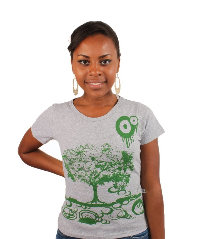 Camiseta Baby Look Green Tree na internet