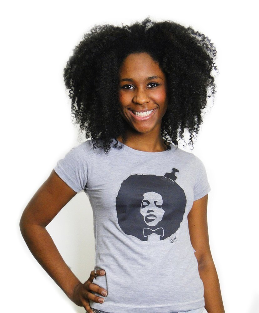 Camiseta Baby Look black power