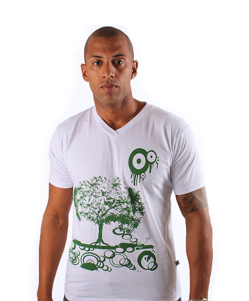 Camiseta Gola V Green Tree