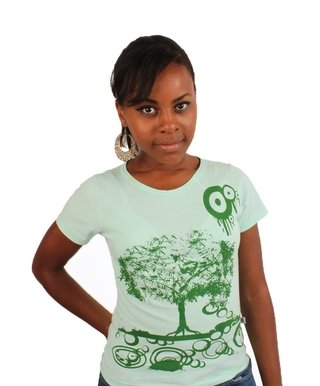 Camiseta Baby Look Green Tree - CamisetasGHT