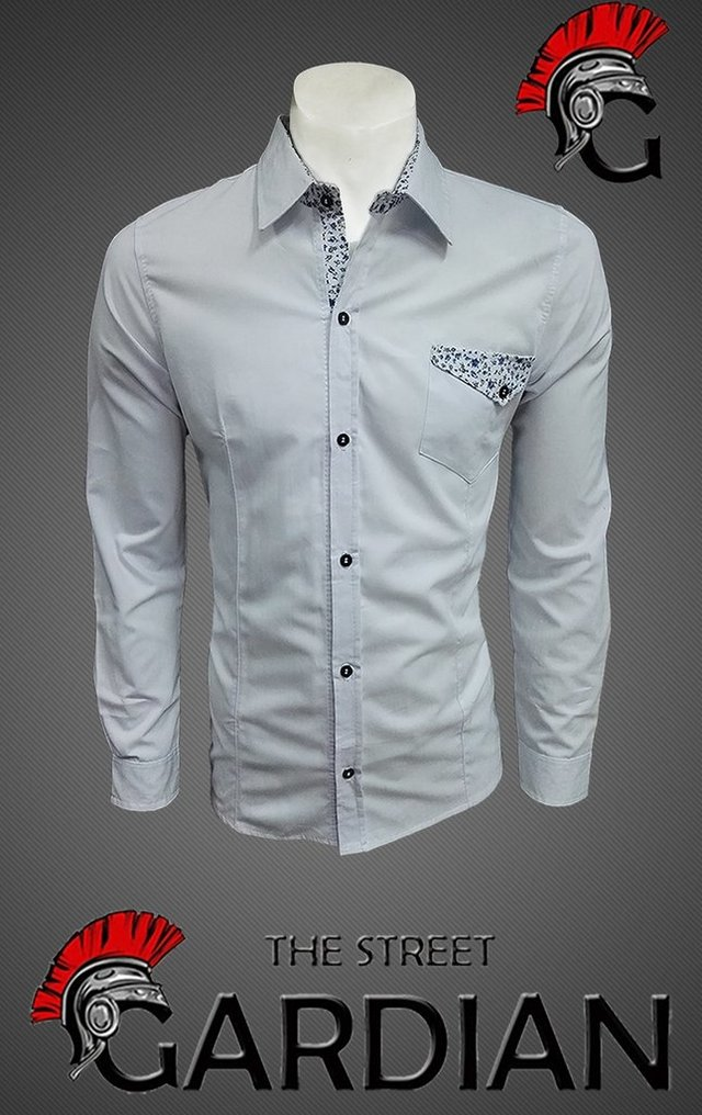 CAMISA SLIM FIT REF BOLSILLO FLORES - THE STREET GARDIAN