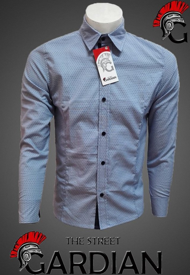 CAMISA EXCLUSIVA MINIPRINT SLIM FIT REF CHAMBRAY - THE STREET GARDIAN