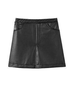 Falda Faux Leather NEGRA