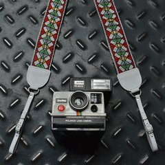 Stained Glass Red Vintage Style Camera Strap - buy online