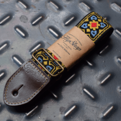 Fillmore Yellow Vintage Guitar Strap