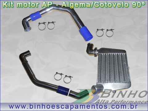 Kit Intercooler n. 2 - Ap sem ar condicionado - Kit com Algema na parte Superior