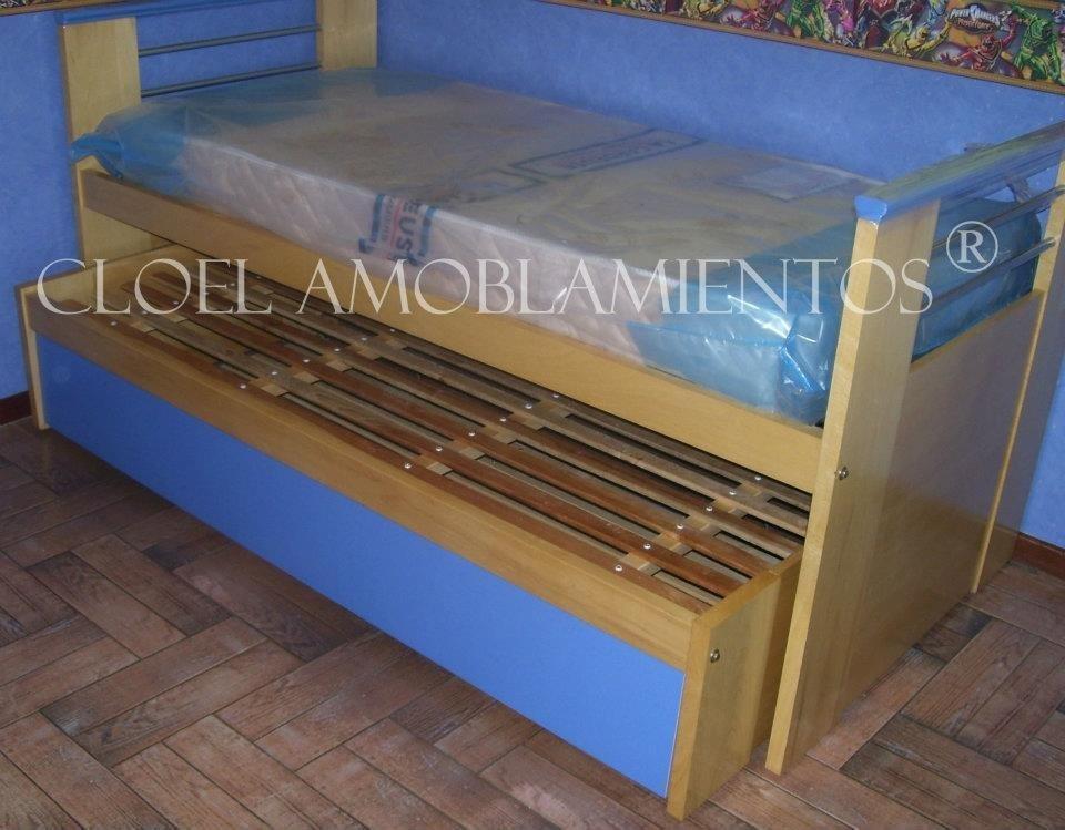 Cama nido EKO baja con cama turca - Linea Madera