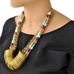 Collar Gold RainBow