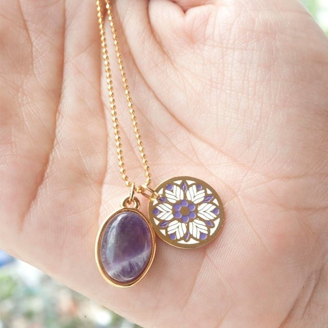 Collar Purple Soft Mandala - comprar online
