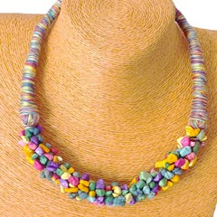 Collar Tropical Rocks Claro - martina & pomelo