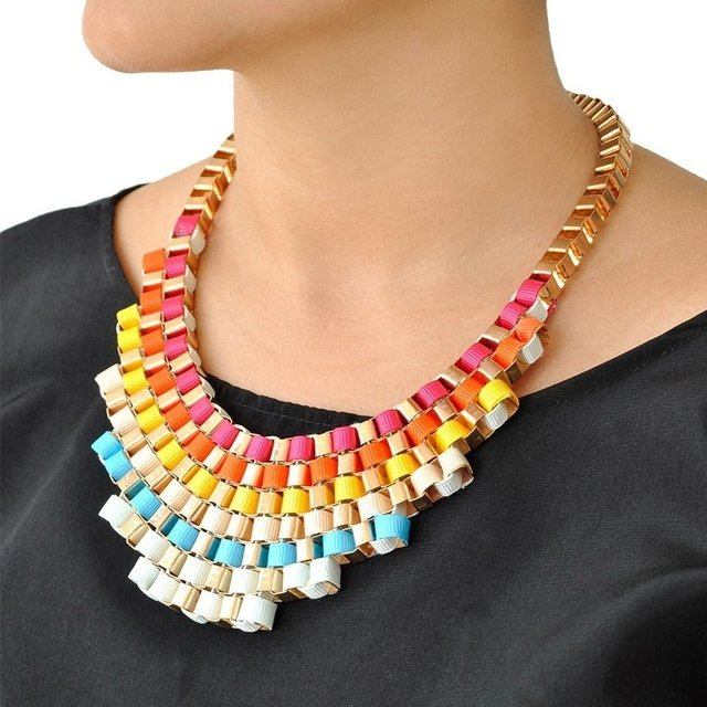 Collar Mix Pyramide Multicolor