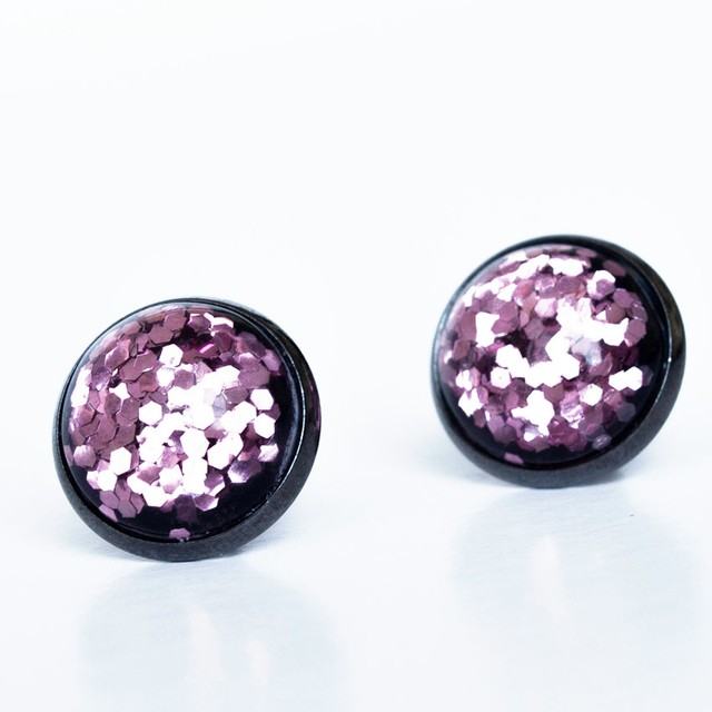 Aretes Rose  Jelly Sparkles