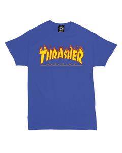 Thrasher Flame Tee (Blue Marine) en internet