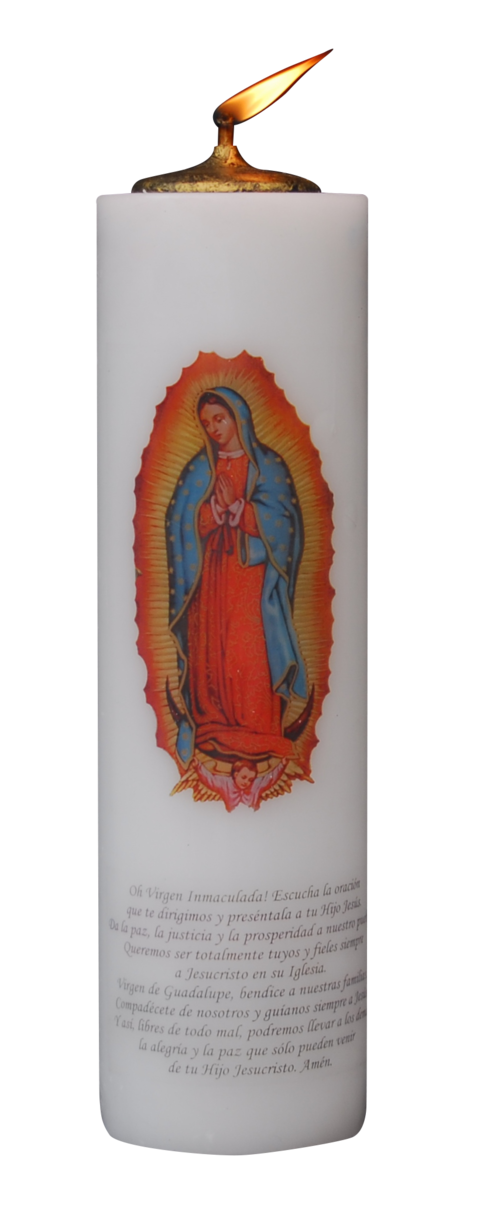 VELON MECHERO VIRGEN GUADALUPE 11X38