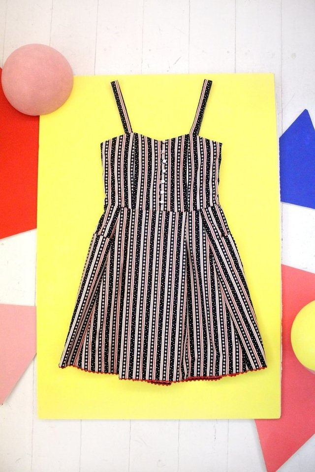 Vestido Geometry  stripes