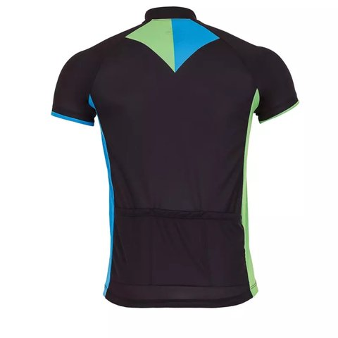 CAMISA CICLISMO LIGHT MARCIO MAY ARROW PRETA AZUL E VERDE