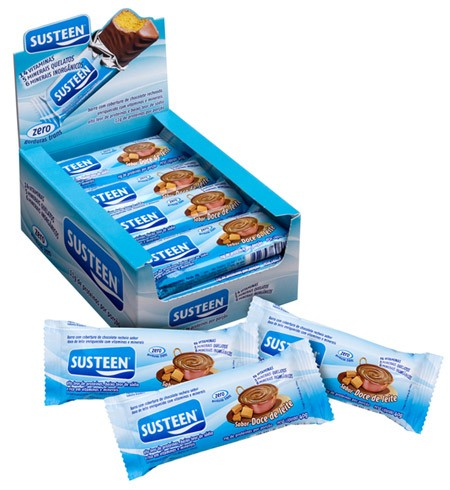 Susteen Display com 12 barras 40g Sabor Banana - comprar online