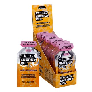 Exceed Energy Gel Display com 10 sachês 30g Sabor Morango com Banana na internet