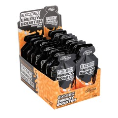 Exceed EnergyBooster Shot Display com 10 sachês 30g Chocolate Fuel - comprar online