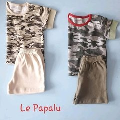CONJUNTO REMERA ESTAMPADA Y SHORT