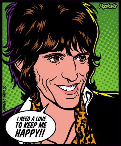 Sticker Keith Richards