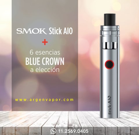 promo aio mas 6 liquidos blue crown