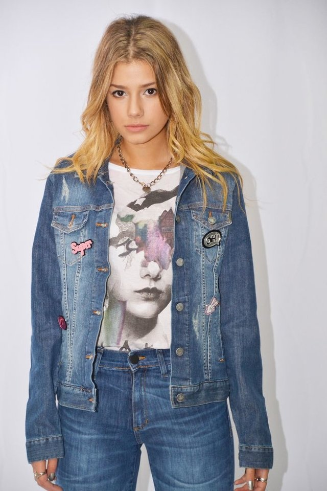 Campera de jean c/aplique Art N921A