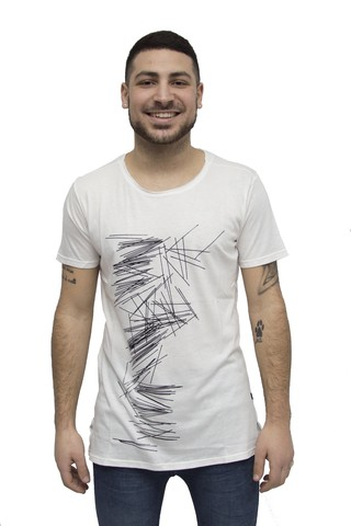 Remera estampada Art V181072
