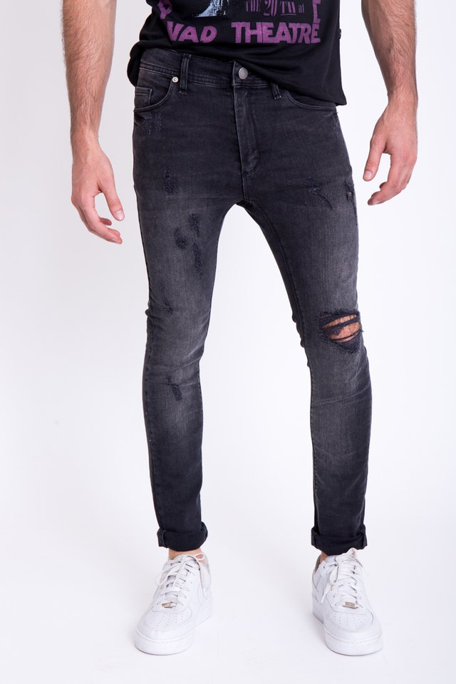 Jean Skinny Broken Night - comprar online